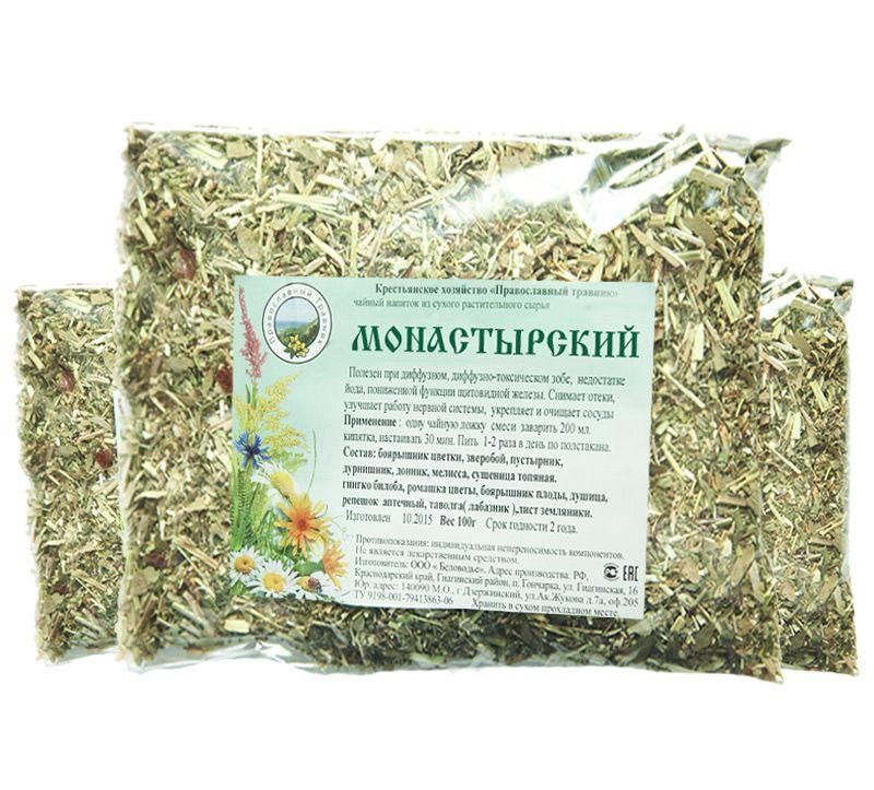 монастырский чай от простатита рецепт состав