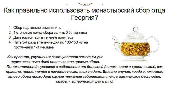 Монастырский сбор отца Георгия можно ли детям его пить
