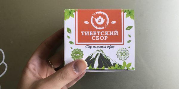 Внешний вид коробки с чаем